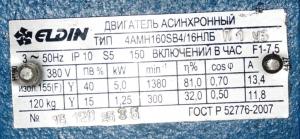 4амн-160s 4/16 5,0/1,25