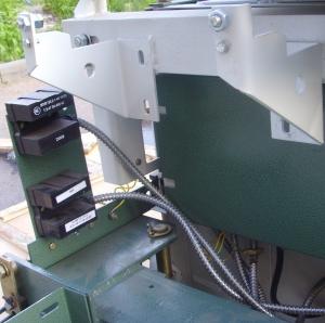 установка датчика на кабине