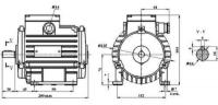 электродвигатель аис-71 а8 нлу3 220/380 со шкивом  электродвигатель лифтовый пдк аис-71 а8 нлу3 220/380 (5кг.)