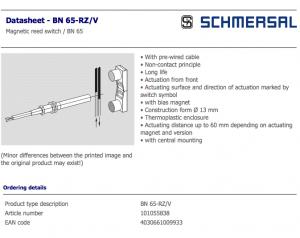 bn 65-rz/v-2040 schmersal
