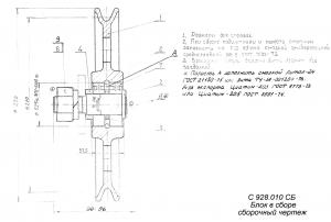 шкив (блок) с928.010 кмз