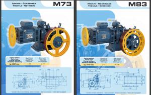 редуктор montanari-м73 (1/37)0411к-12.22.00.000 (без электромагнита) кмз 400кг.-1м/с.