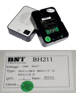 bh211 intercom bst