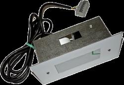 Табло нерж. ИЛШ-621  ZAA9582BP6  MCS-220 зелёная подсветка, 7-ми сегментный, с гонгомИндикатор Лифтовый Шахтный