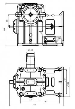 редуктор рчл 180х33 (млз)