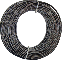 Трос - Канат d - 10,0 мм. DIN 3062 \ конструкции 8х19 (1+9+9)+1 о.с.  СЕРТИФИКАТ
