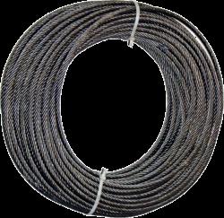 Трос - Канат d - 8,0 мм. DIN 3062 \ конструкции 8х19 (1+9+9)+1о.с.