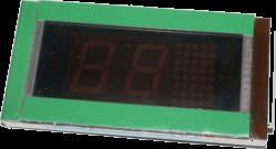 Индикатор лифтовый ИЛК-65 Плата ZBA25140V1 кабинный зелёная подсветка, 7-ми сегментный MCS-220
