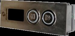 Вызывной пост нерж. KLEEMANN (2 кнопки/стрелки/верх-низ)