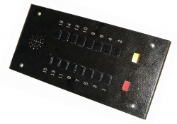 Панель (лифтёра) приказа ПЛ-53 (залипающая-антивандал.) 10эт.  ПАСПОРТ